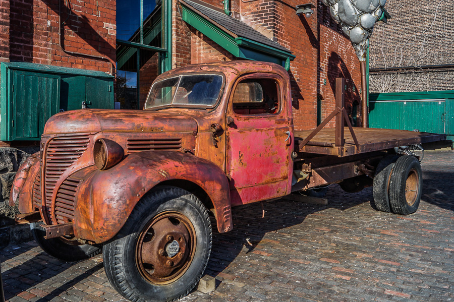 Old truck at the Distillery District