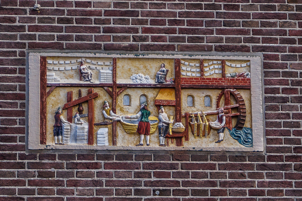 Paper mill gable stone in Amsterdam