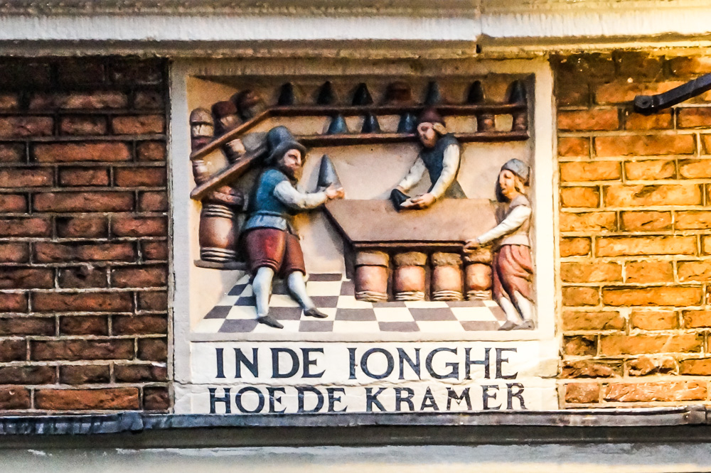 Sugar loaves gable stone in Amsterdam