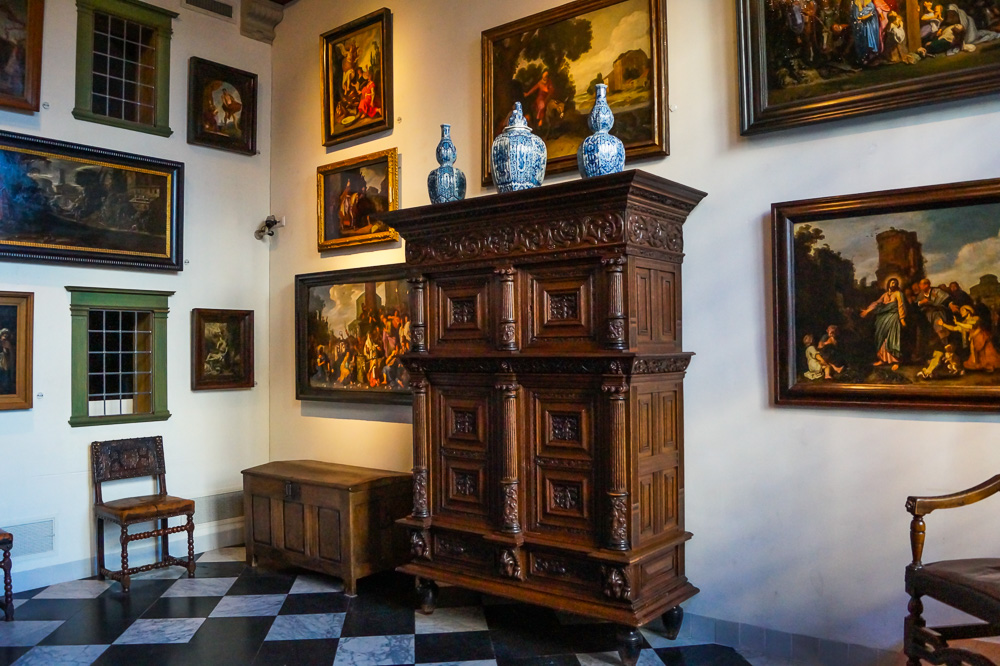 Entry hall in Rembrandt House Museum in Amsterdam