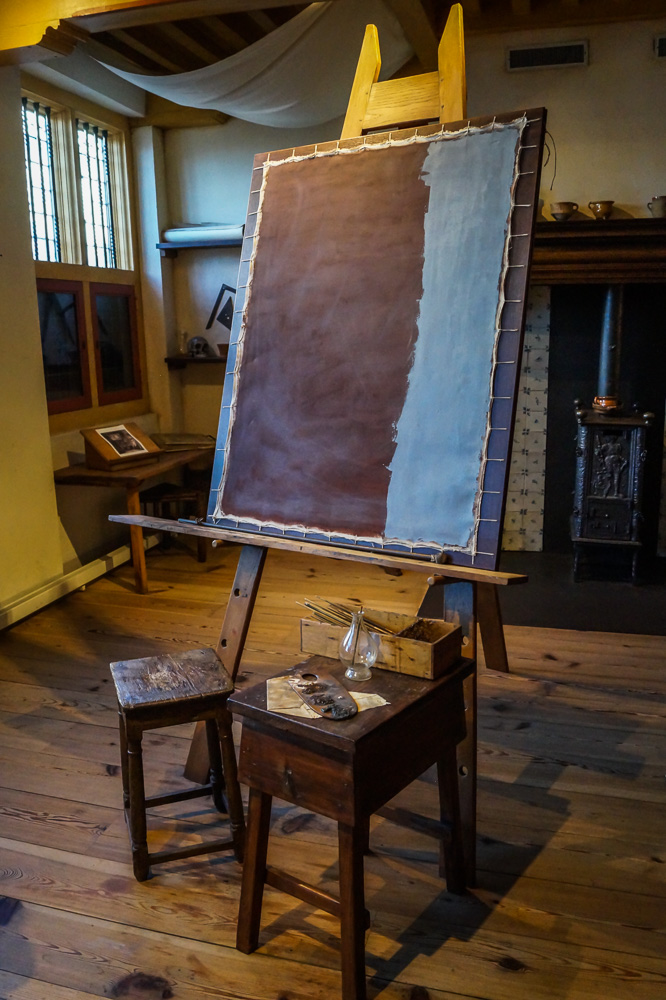 Rembrandt's studio in Rembrandt House Museum in Amsterdam