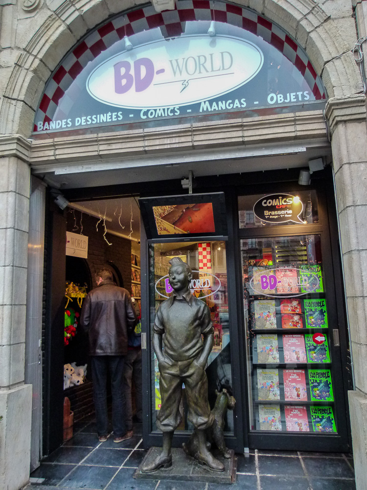Comic book store in Brussels