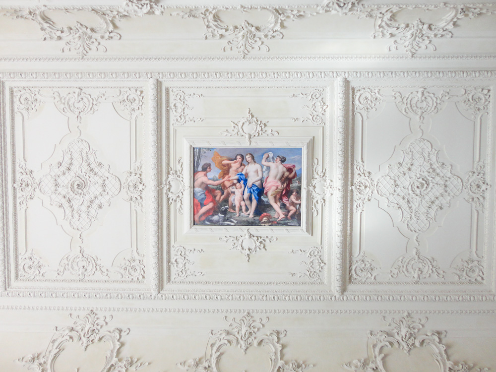 Detail of the ceiling in the Catherine Palace in Tsarskoye Selo