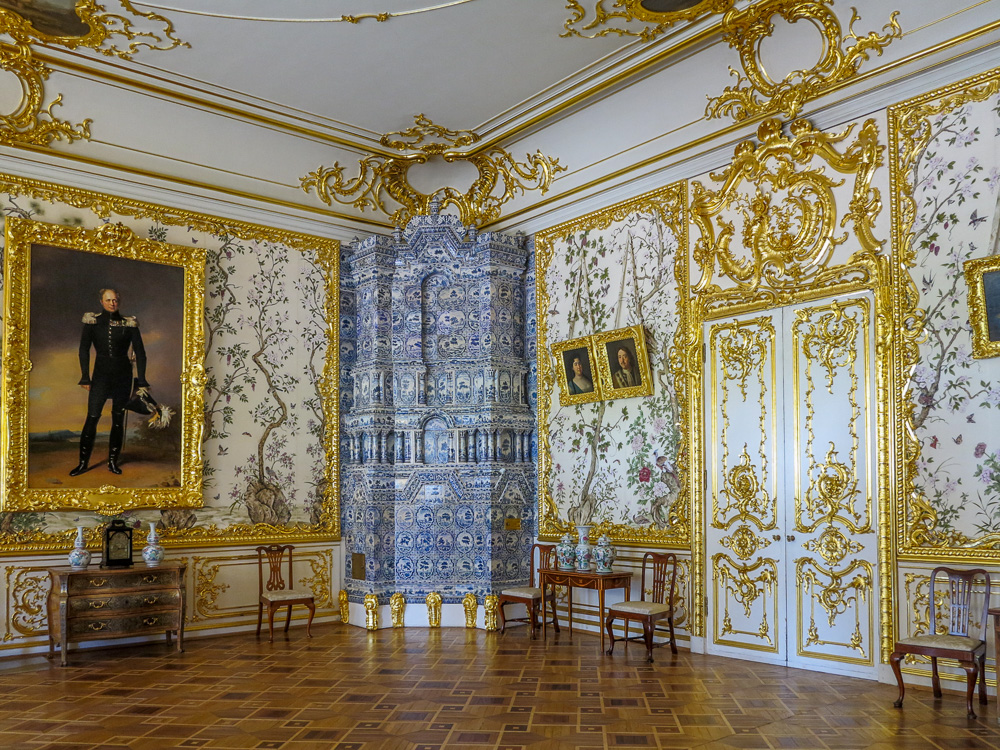 The Chinese Drawing Room of Alexander I in the Catherine Palace in Tsarskoye Selo