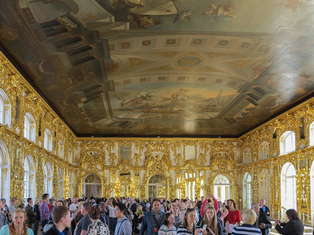 The Great Hall in the Catherine Palace in Tsarskoye Selo