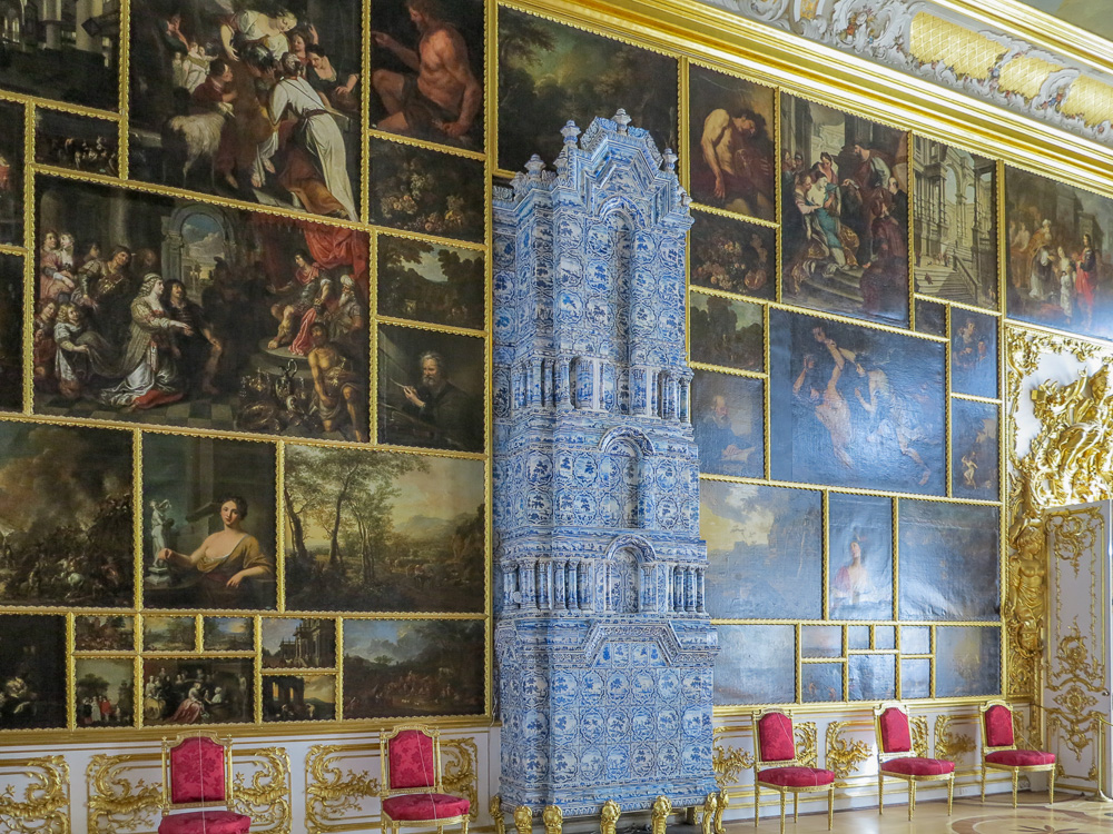 The Picture Hall in the Catherine Palace in Tsarskoye Selo