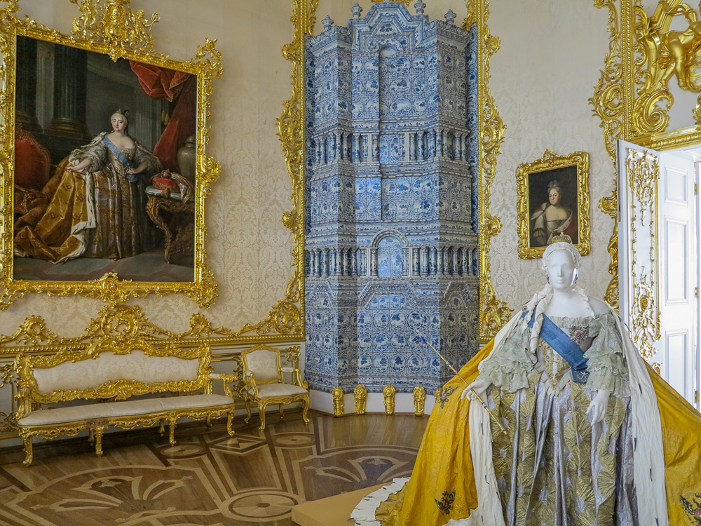 The Portrait Hall in the Catherine Palace in Tsarskoye Selo