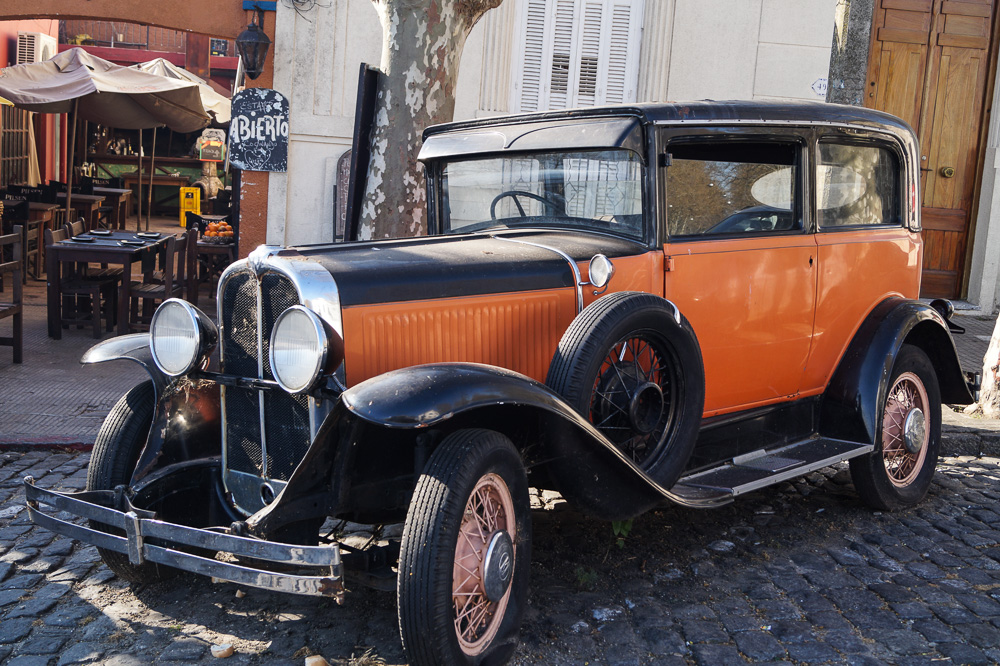 Old car at General Flores in Colonia Del Sacramento