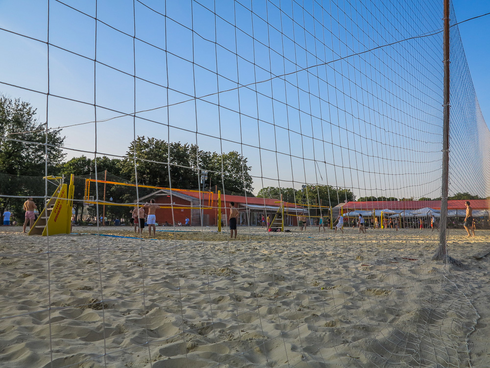 Beach volleyball court at Gorky Park in Moscow
