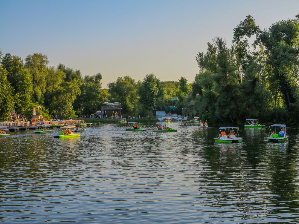 Paddle boat at Gorky Park in Moscow