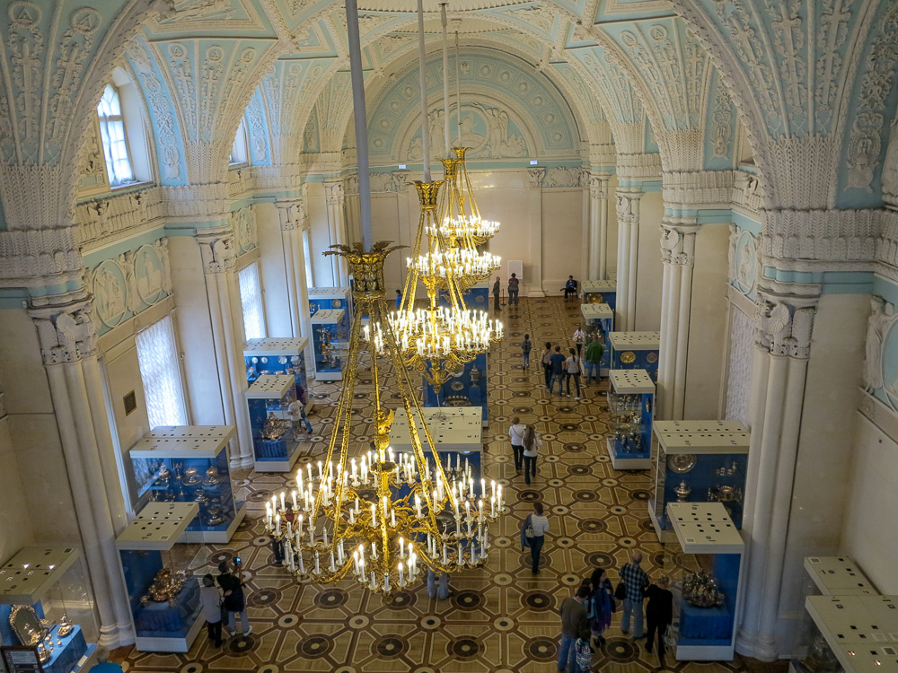 The State Hermitage Museum. The Alexander Hall in the Winter Palace.