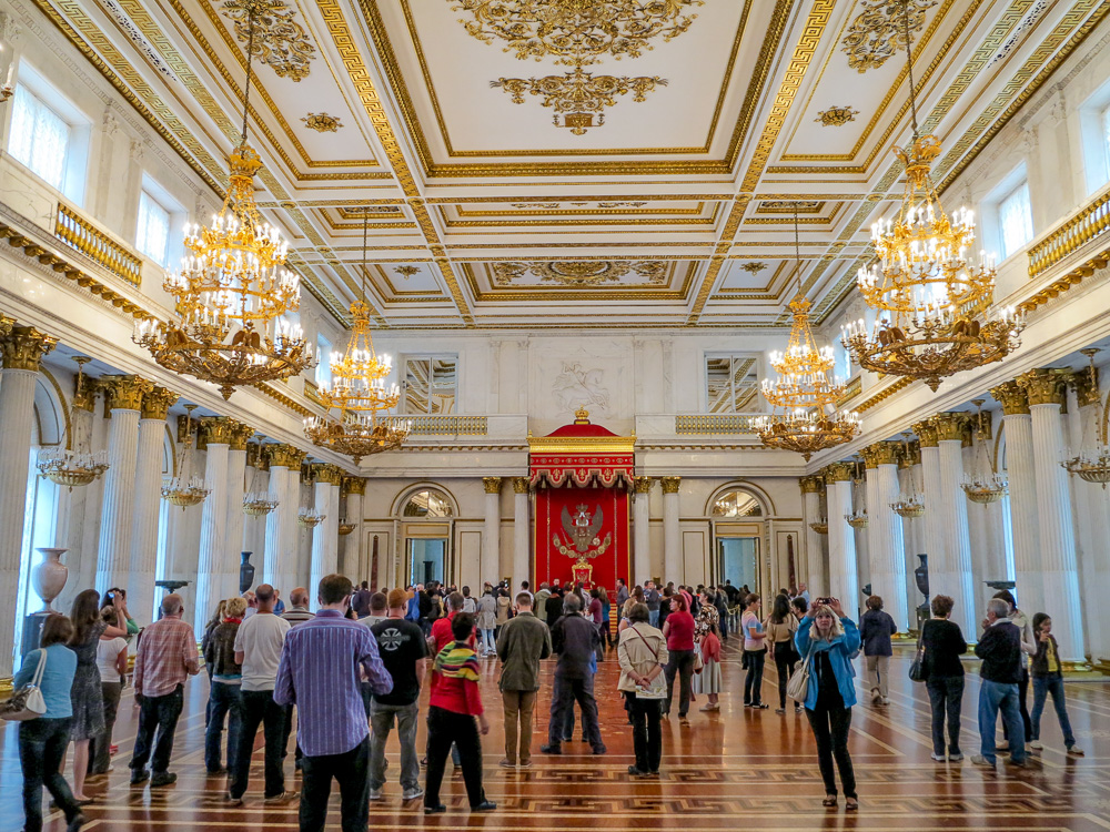 The State Hermitage Museum. The St. George Hall (Large Throne Hall ) in the Winter Palace.