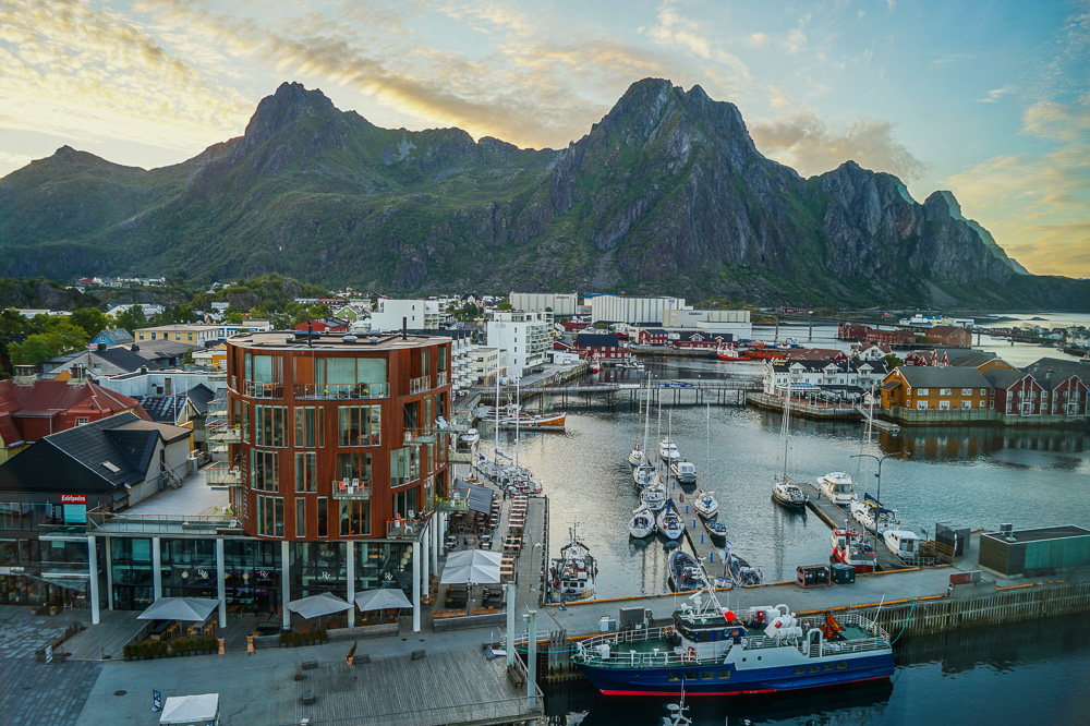 View from my room of the port town of Svolvaer