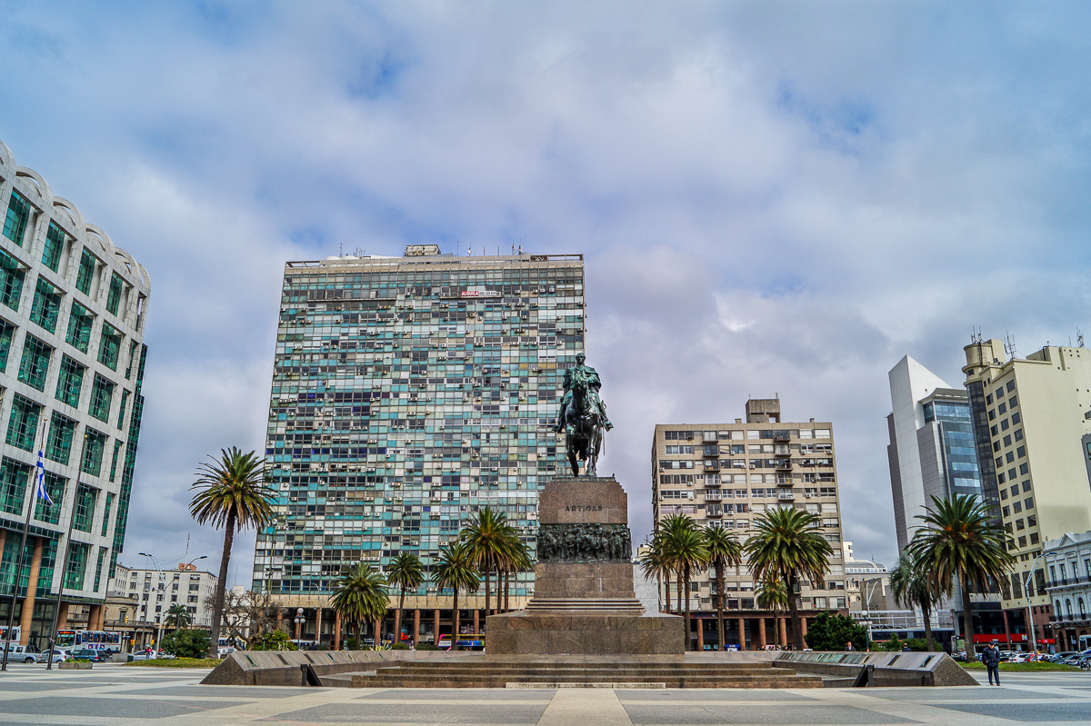 The Artigas Monument at the Independence Square in Montevideo