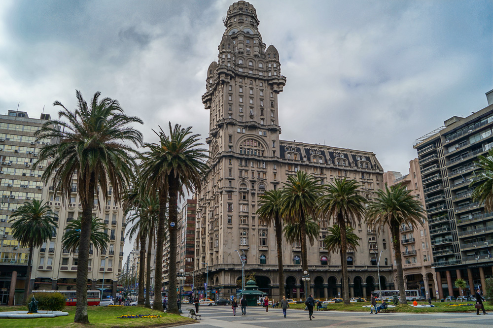 The Palacio Salvo at the Independence Square in Montevideo