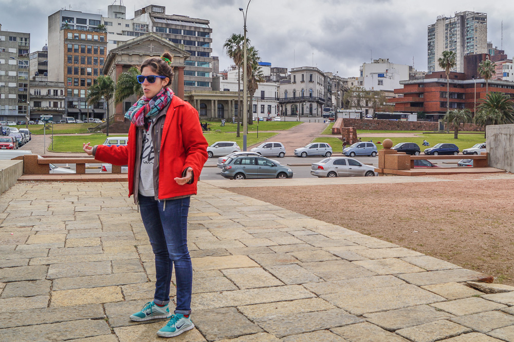 Our tour guide in the Montevideo free walking tour