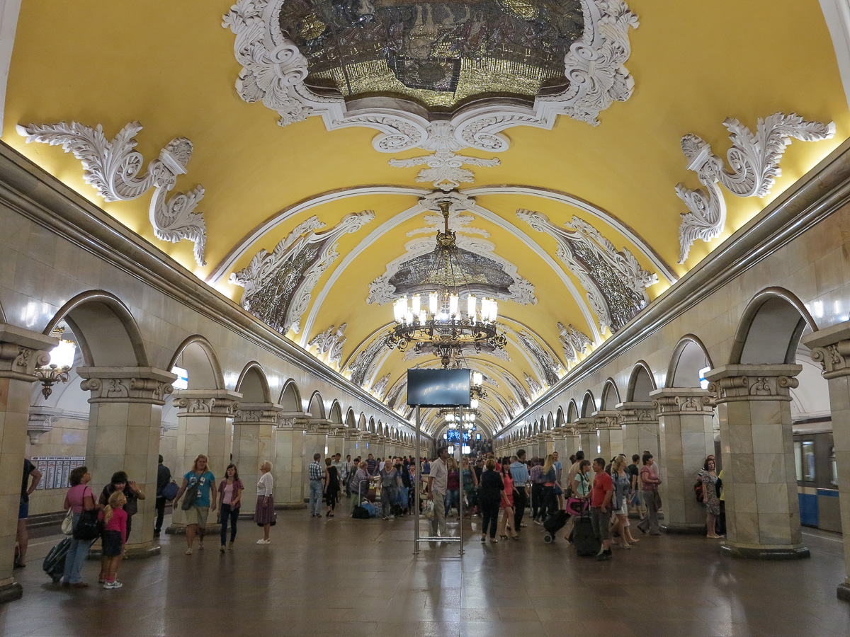 Visiting the stunning Moscow Metro