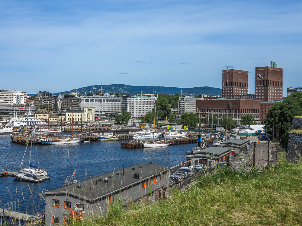 View from the Akershus Fortress in Oslo