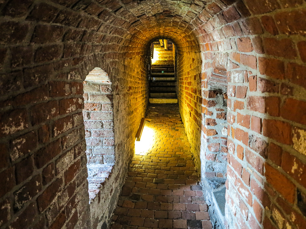 Passage to the dungeons inside Akershus Castle in Oslo