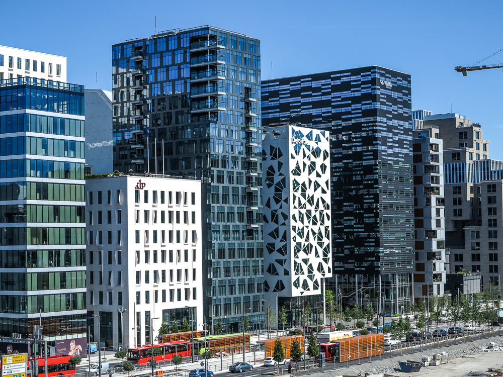 The renovated Bjørvika area