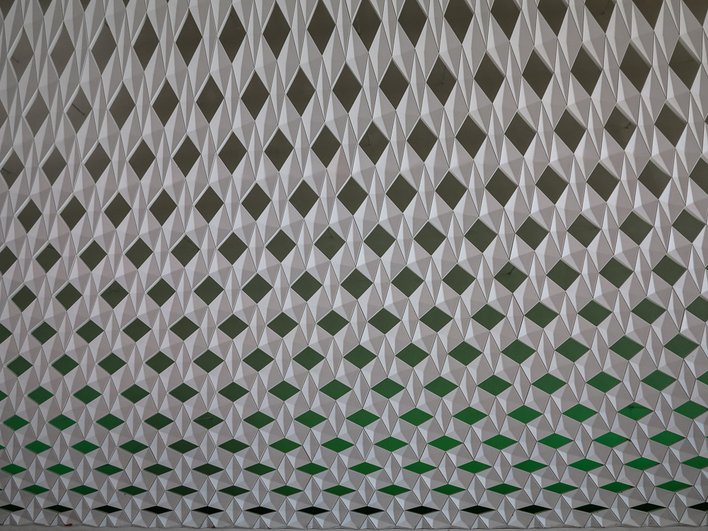 Perforated cladding wall in the lobby of the Oslo Opera House