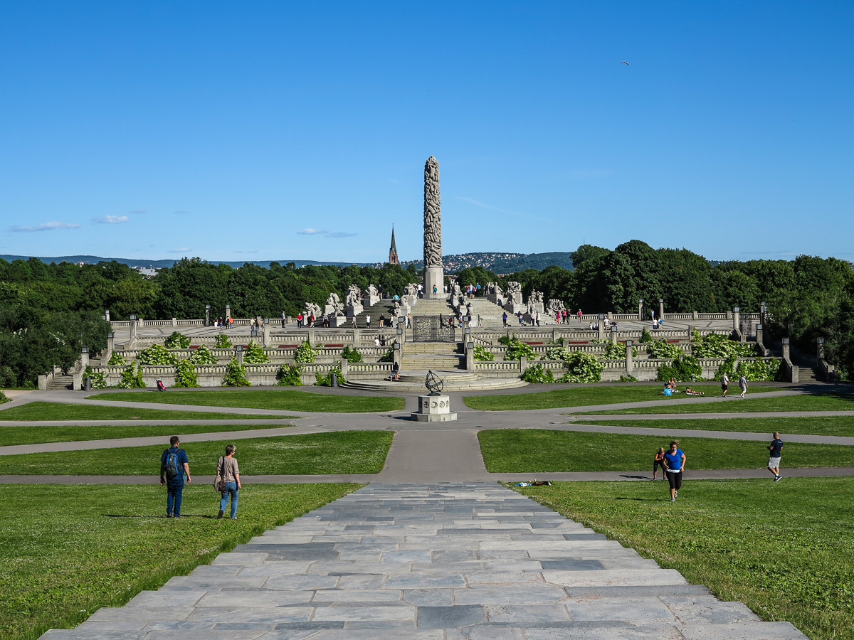 The Vigeland Sculpture Park in Oslo