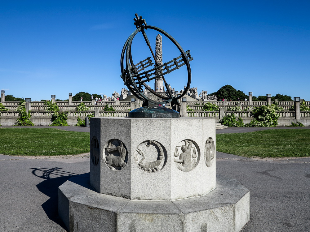 The Sundial at Vigeland Sculpture Park
