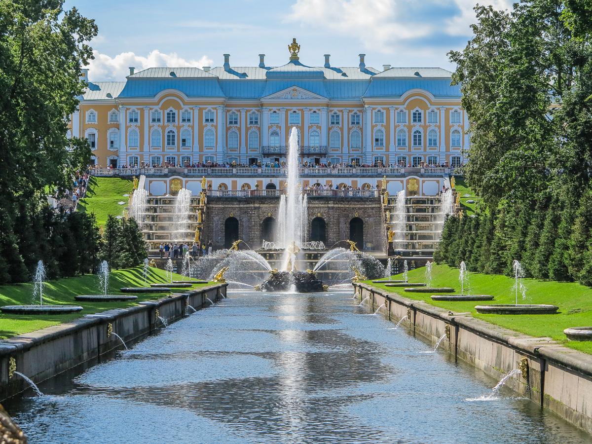 The Peterhof Palace in Saint Petersburg