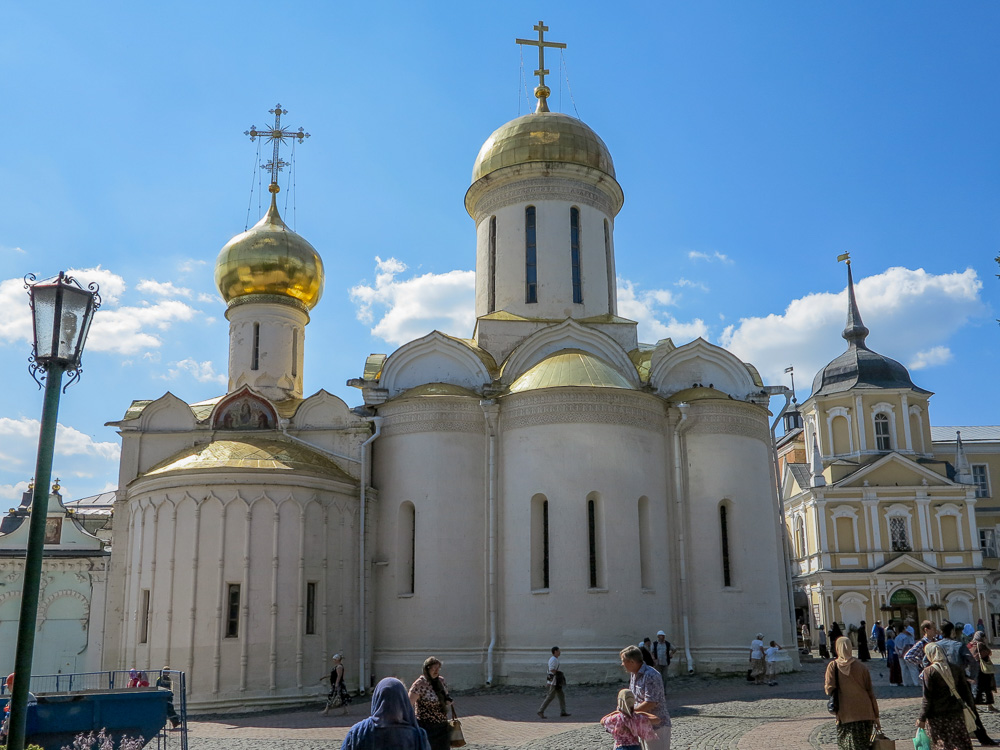 The Trinity Cathedral at the Trinity Monastery of St. Sergius in Sergiyev Posad