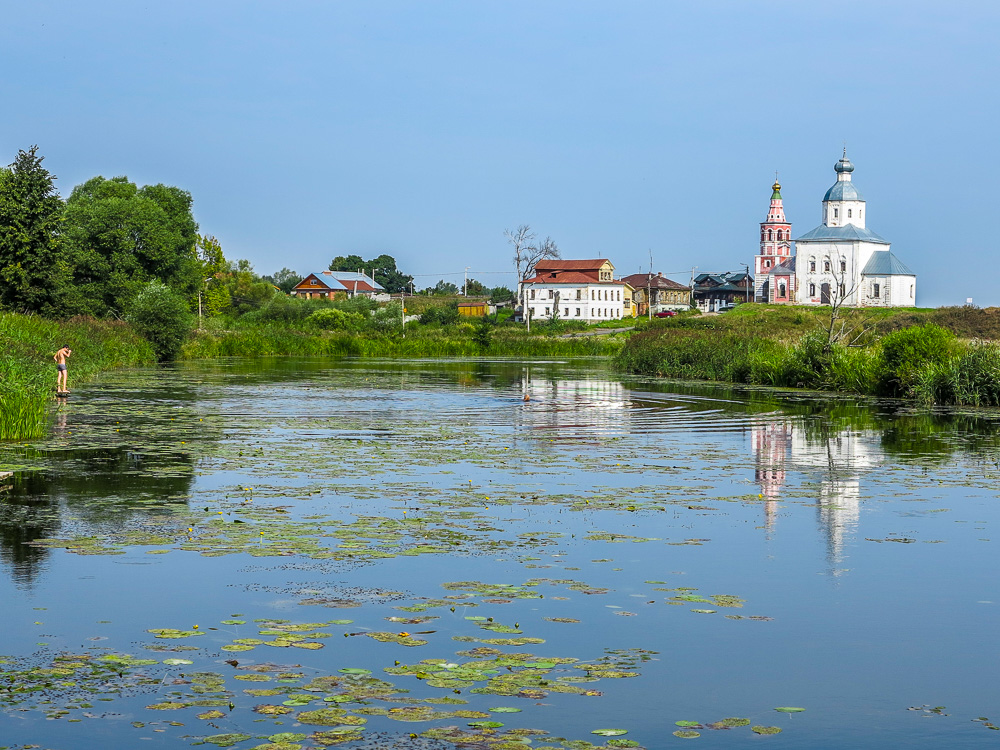 View from the bridge over the river Kamenka
