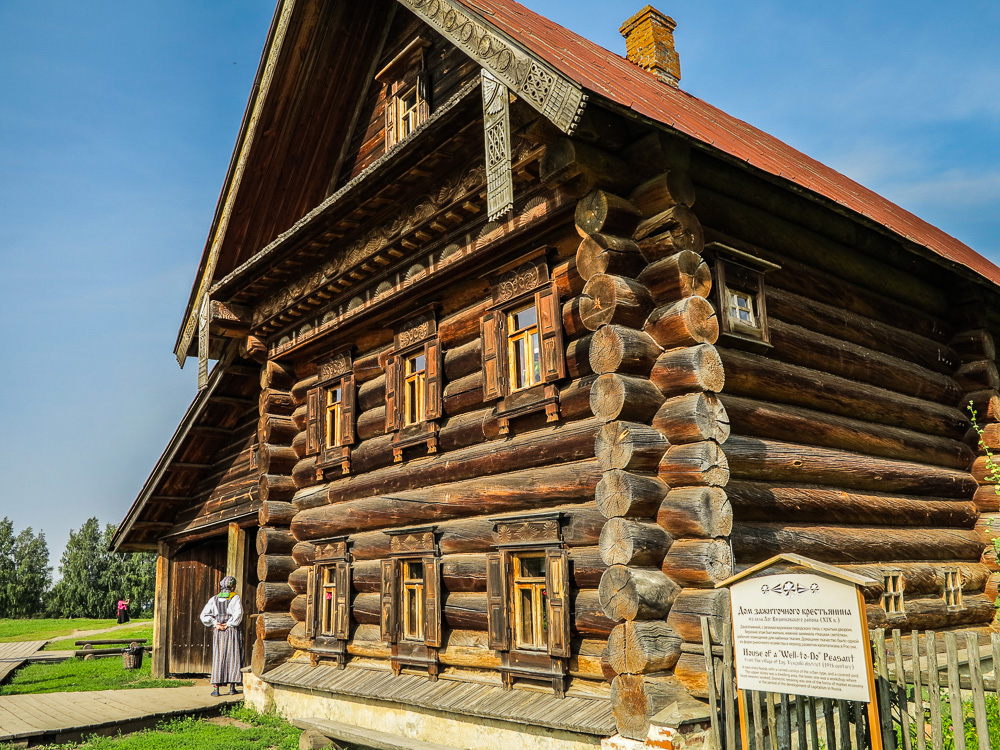 House at the Museum of Wooden Architecture and Peasant Life in Suzdal