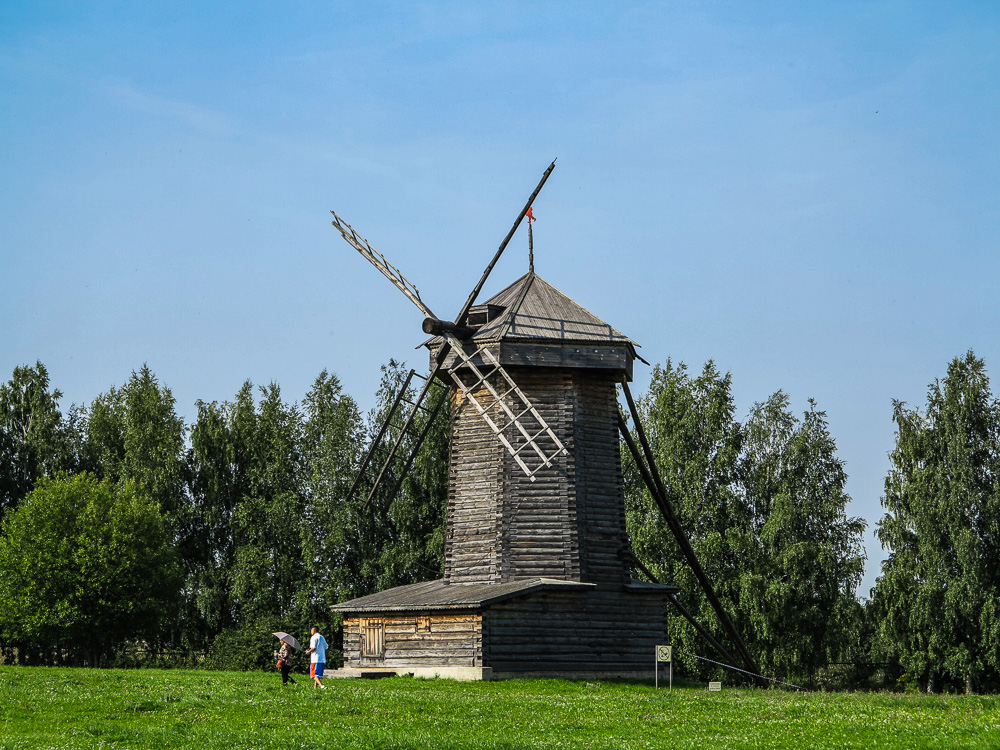 Mill at the Museum of Wooden Architecture and Peasant Life in Suzdal