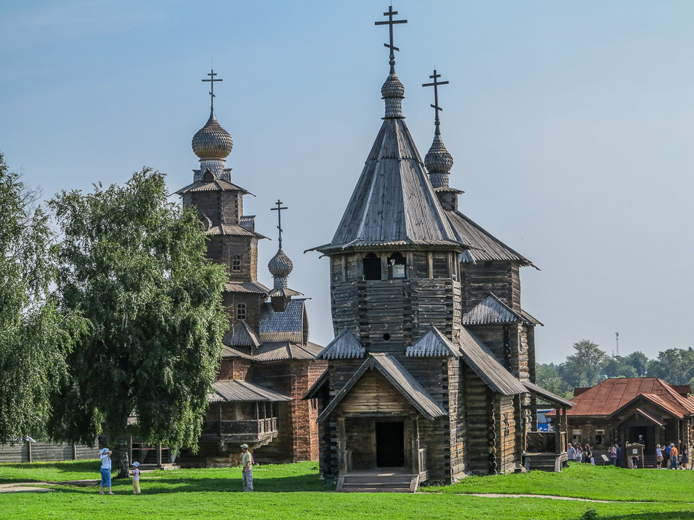 Churches at the Museum of Wooden Architecture and Peasant Life in Suzdal