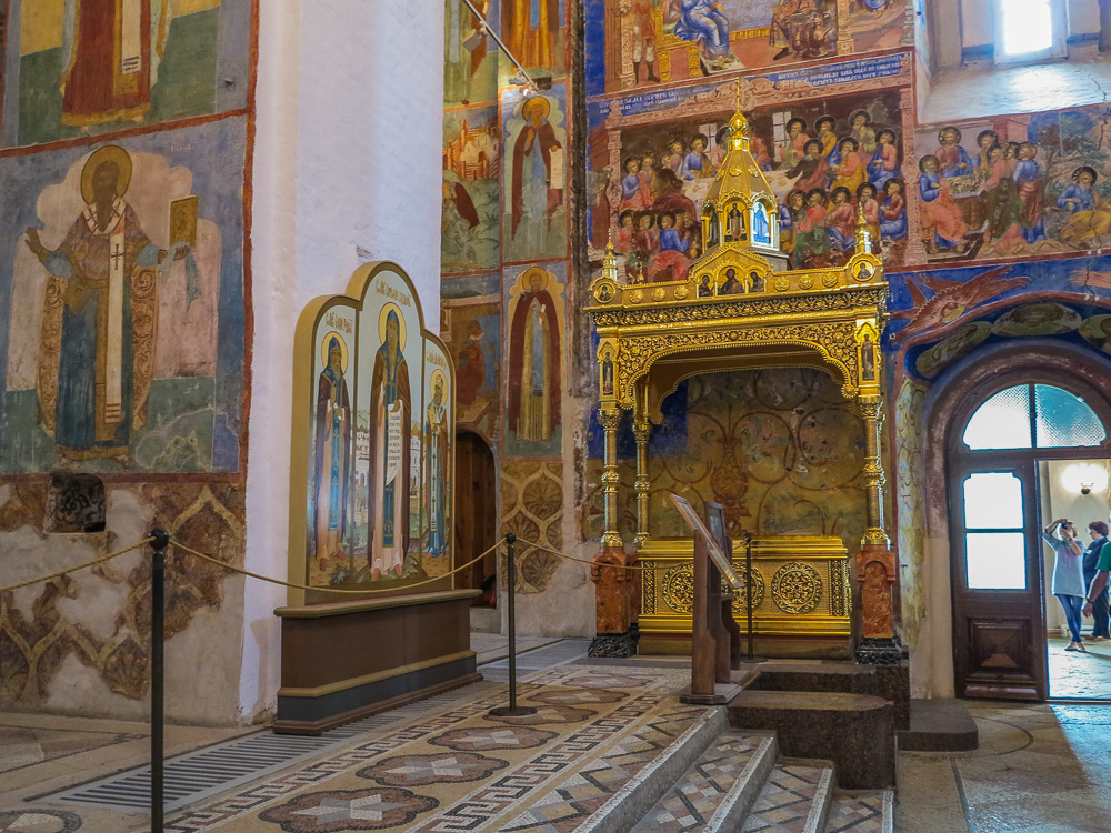 Inside the Transfiguration of the Saviour Cathedral at the Spaso-Evfimiyev Monastery Museum Complex in Suzdal