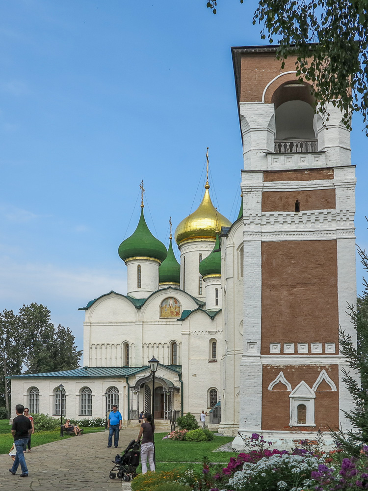 Transfiguration of the Saviour Cathedral and Belfry at the Spaso-Evfimiyev Monastery Museum Complex in Suzdal