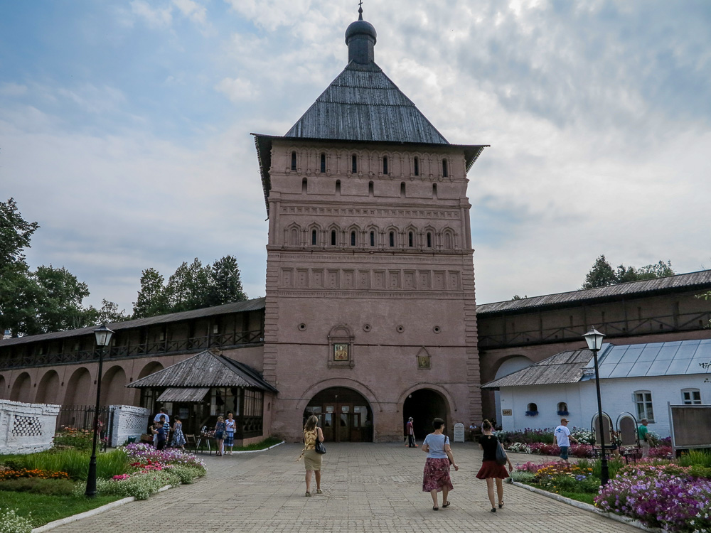 Entrance Tower at the Spaso-Evfimiyev Monastery Museum Complex in Suzdal