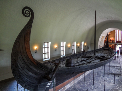 The Oseberg Ship at the Viking Ship Museum