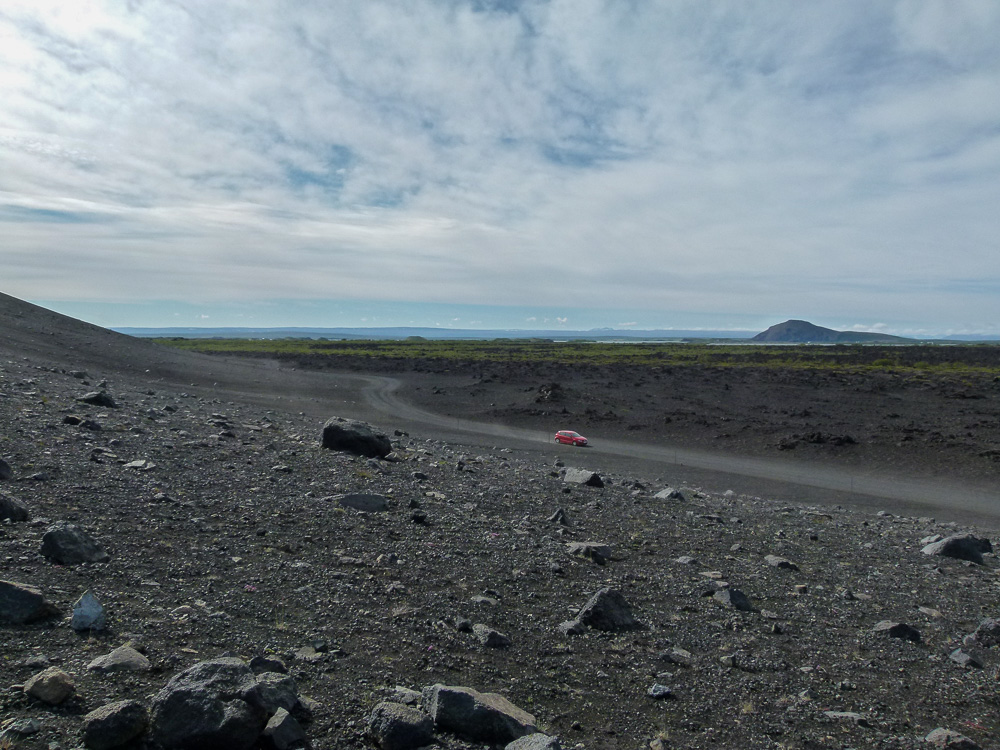 View from Hverfjall volcano