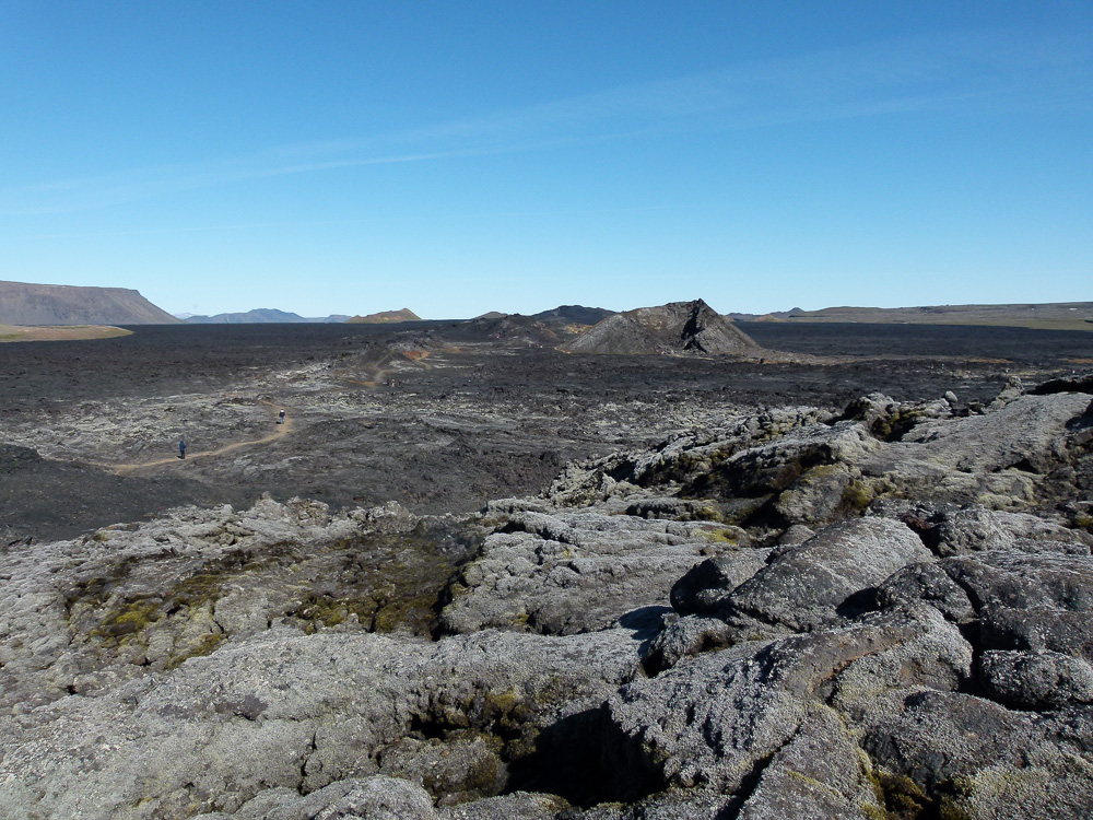 Path through Krafla lava field