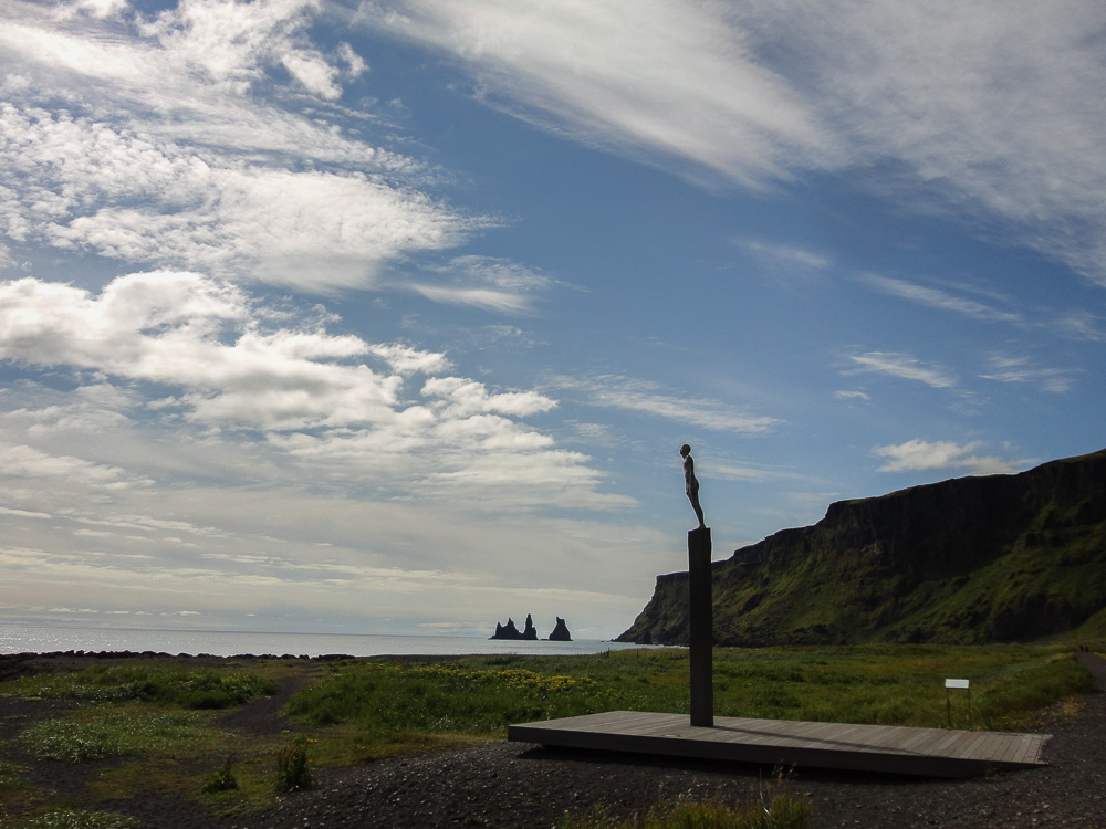 Monument to the memory of drowned seamen at Reynisfjara Black Sand Beach
