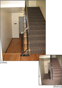 Apartment Building Renovations: Before and After Entryway