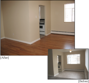 Apartment Building Renovations: Before and After Wood Floors