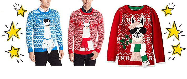 4 Blizzard Bay Llama Ugly Christmas Sweaters