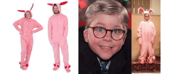 A Christmas Story Pink NIghtmare Bunny Pajamas