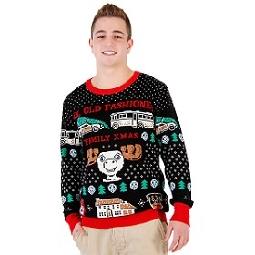Christmas Vacation Ugly Christmas Sweaters. With Griswold station wagon and Christmas Tree, Eddie's RV