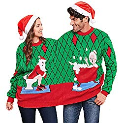 Couples Ugly Christmas Sweaters are a great way to rock the vote and Win an ugly Christmas Sweater Contest