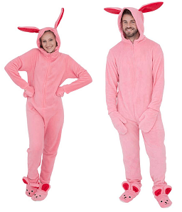 Pink Nightmare Bunny Pajamas