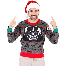 Darth Vader Christmas Sweater. Sith Star Wars Sweater. Anakin Skywalker ugly Christmas Sweater