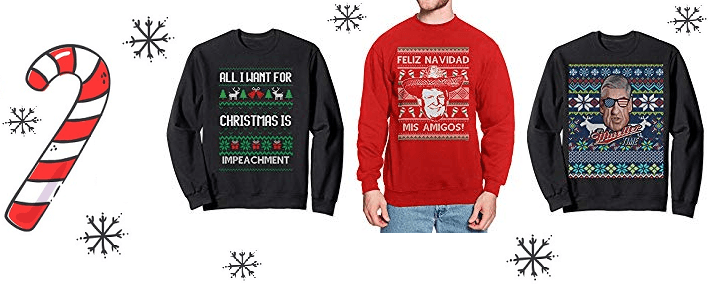 6 Impeachment Ugly Christmas Sweaters are Going to be YUGE