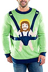 Jesus ugly Christmas Sweater in a baby bjorne